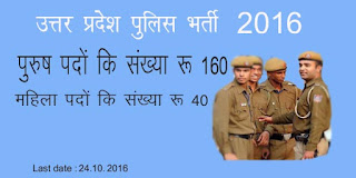 UP Police Sports Quota  bharti 2016 - 2017