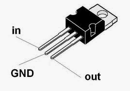 Pin Configuration Of IC 7805, The Voltage regulator