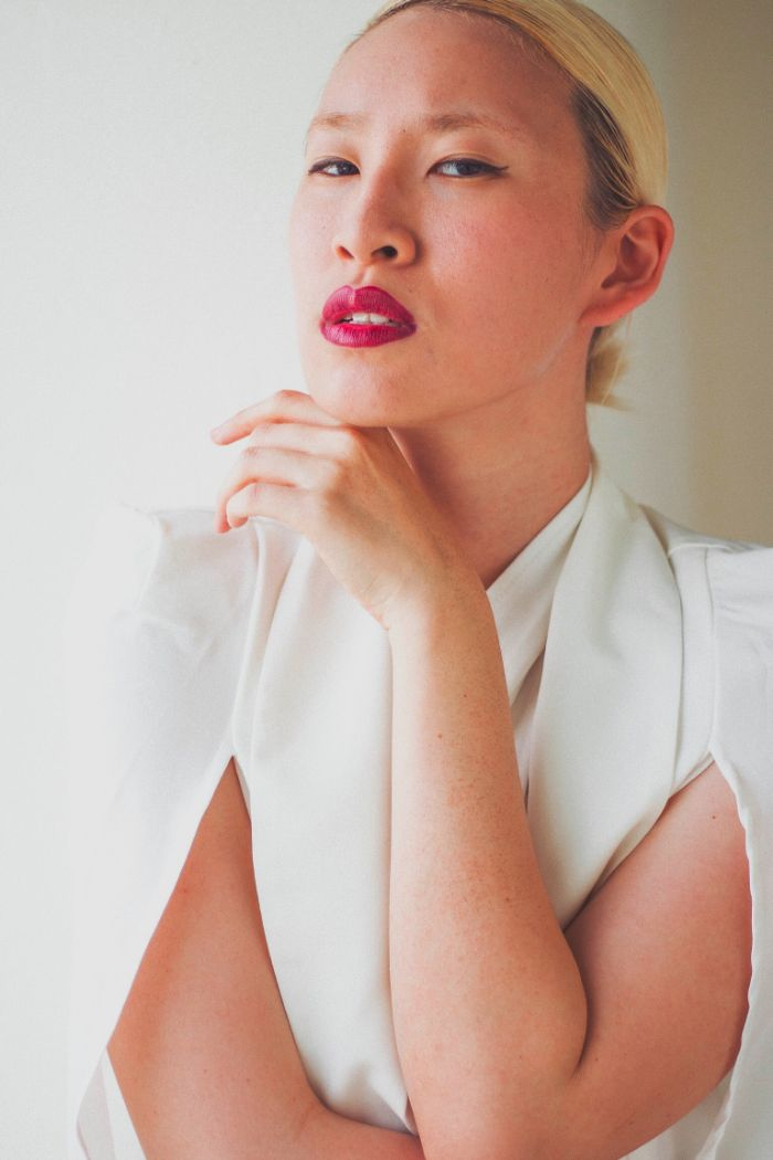 Brunei model Phoebe Chok for The Mayden by Mujahid Johar