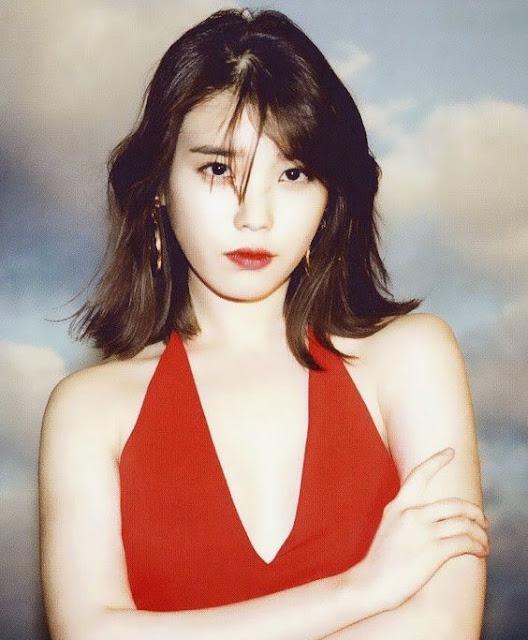 iu looks hot in red dresses