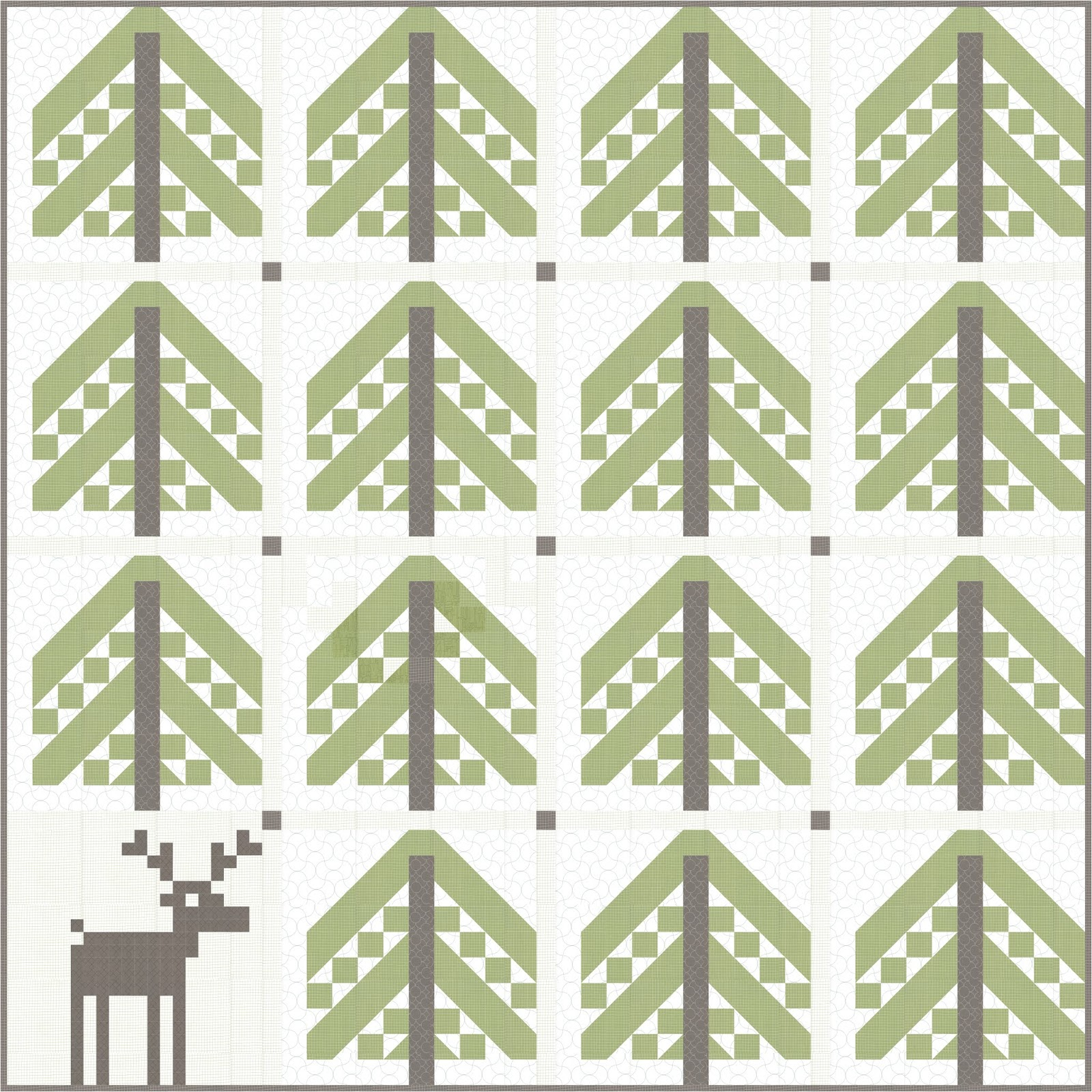 Piece N Quilt Simple Forest A Free Quilt Pattern Featuring