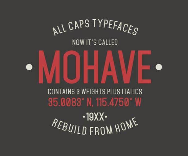 Mohave font