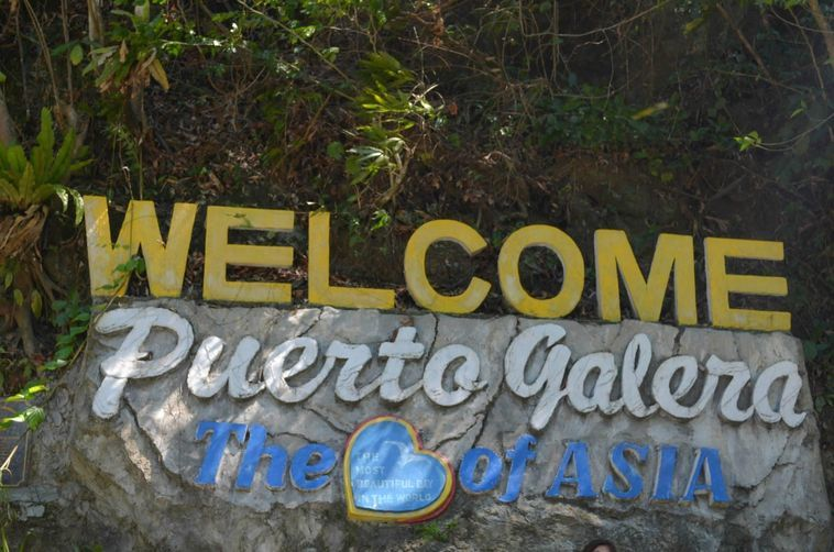 Welcome marker at Puerto Galera