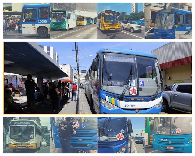 TRE-BA e Polícia Federal inicia retirada de adesivos do PT de ônibus de Salvador.