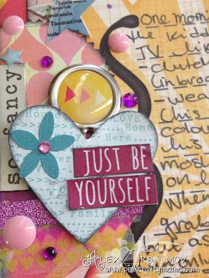 mercy tiara scrapbook scrapbooking layout challenge pink crafty mama pinkcraftymama basic grey soleil sassafras nerdy bird purple