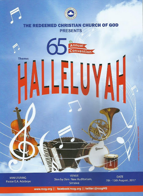 RCCG's 65th Annual convention themed 'Halleluyah' starts today - Details