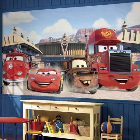 Disney tapetti Cars valokuvatapetti lapsia lastenhuone tapetti