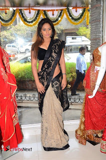Actress Neetu Chandra Stills in Black Saree at Designer Sandhya Singh's Store Launch  0033.jpg