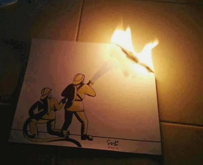 A firemen drawing
