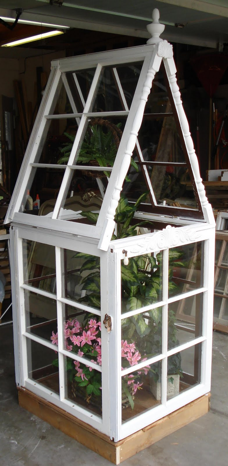 Jodys Re Creations Mini Greenhouse Glass House Art Piece