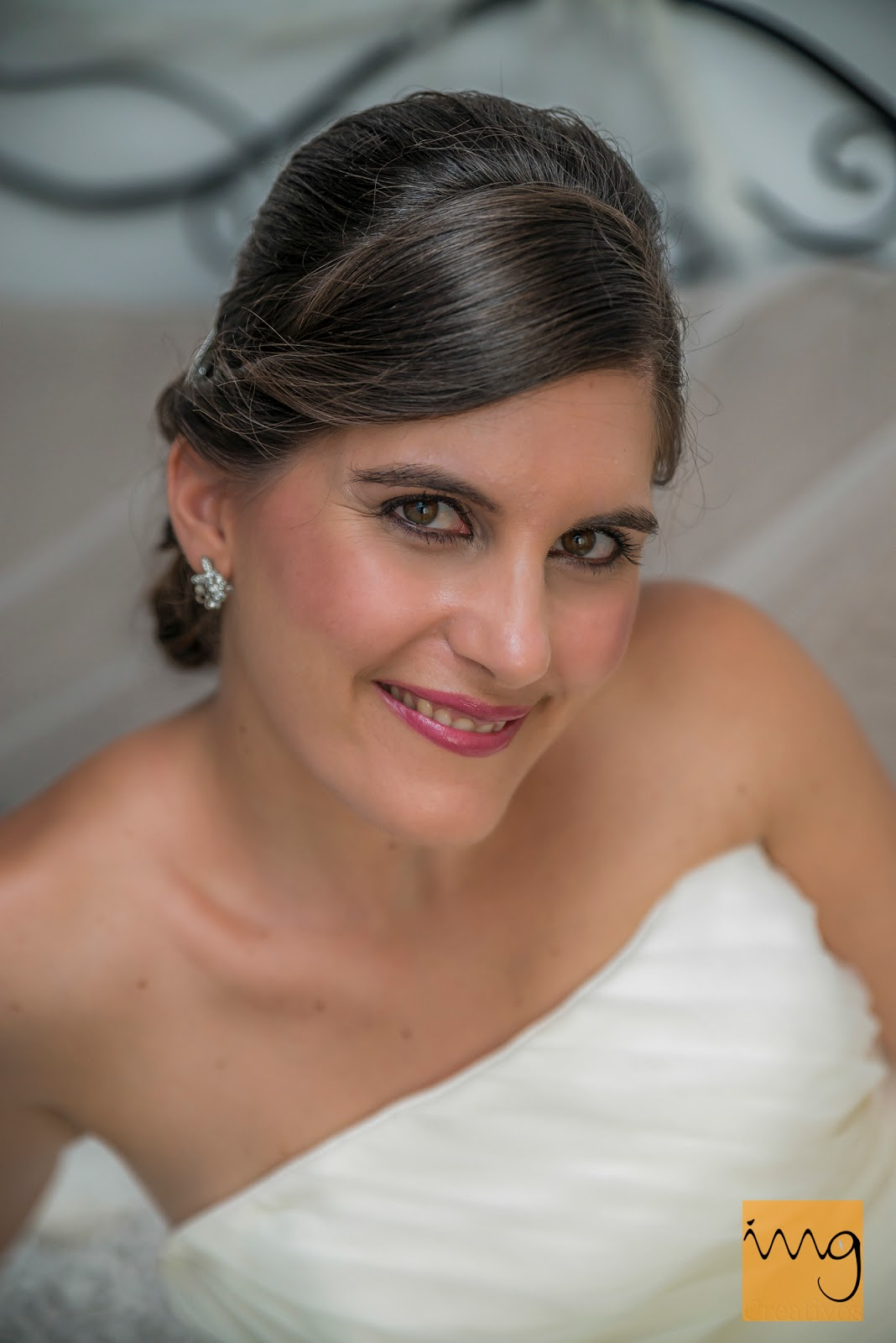Retrato de la novia en picado