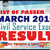 March 2019 CSE-PPT Examination Result.