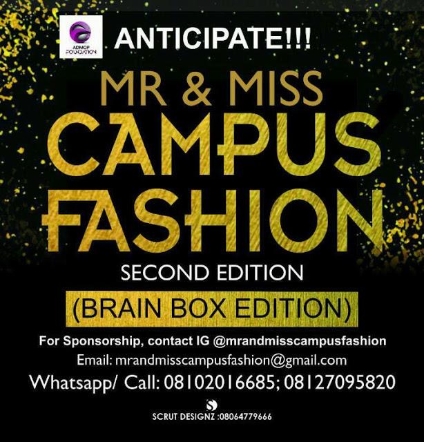 Mr&Miss Campus Fashion 2018 kicks Off Soon