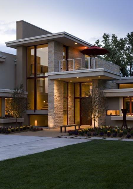 rumah model kontemporer
