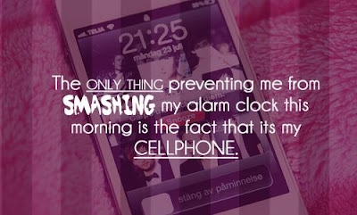 Funny good morning:the only thing preventing me from smashing my alarm clock this morning is the fact that is my