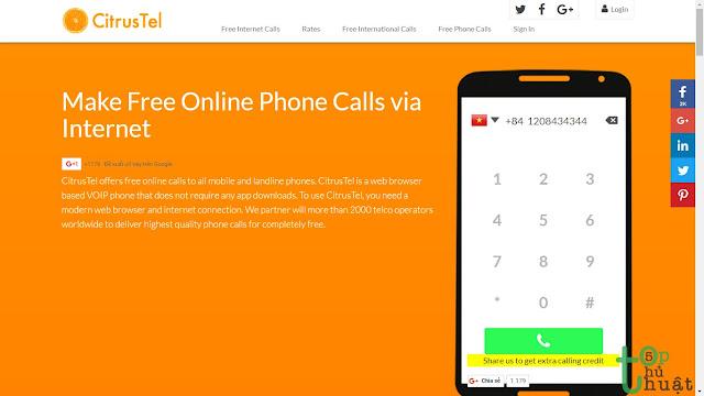 Top 5 trang web cho phép gọi điện đến số điện thoại miễn phí