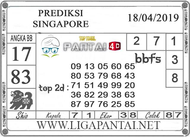 """Prediksi Togel """"SINGAPORE"""" PANTAI4D 18 APRIL 2019"""