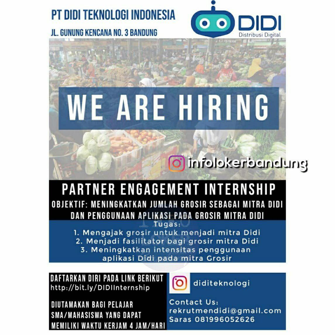 Lowongan Kerja PT. Didi Teknologi Indonesia Bandung November 2018