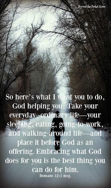 an inspiring verse about serving God
