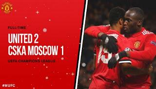 Manchester United Menang 2-1 atas CSKA Moskow - Liga Champhions