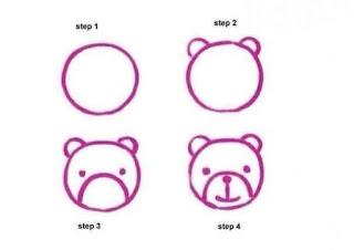 Cara Menggambar Beruang