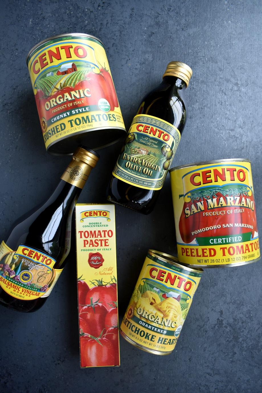 Cento tomatoes, oil, balsamic vinegar