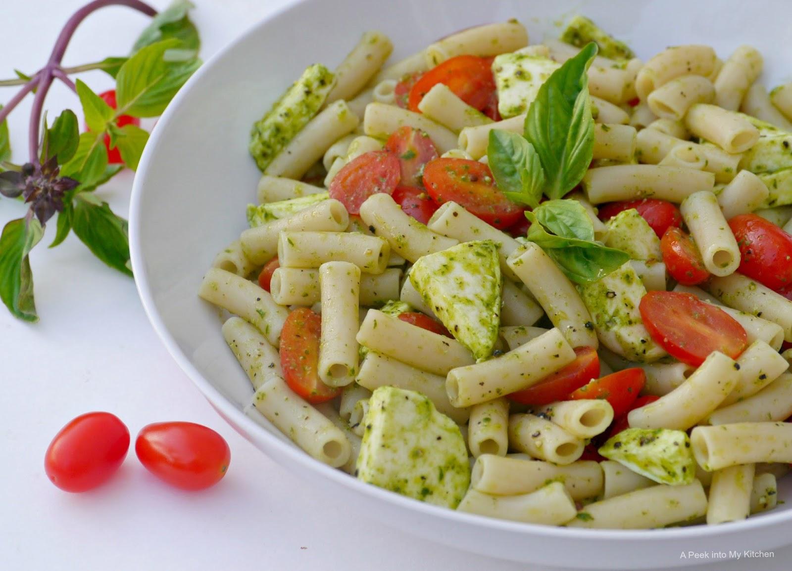 Caprese Pasta Salad With Lemon Vinaigrette Recipe