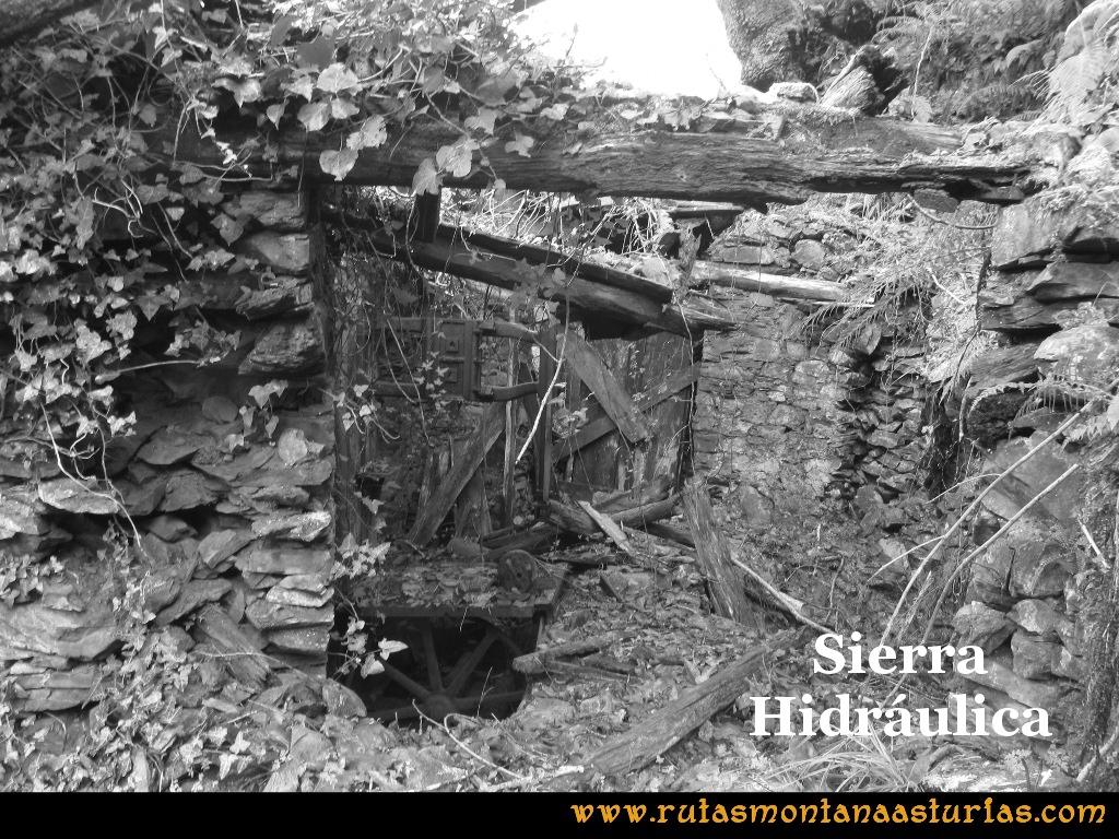 Senda de Bustavil, Tineo, PR AS-288: Sierra hidráulica