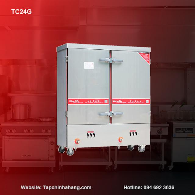 Tủ cơm 24 khay sử dụng gas TCG24-2018