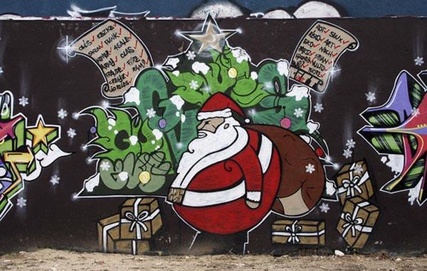 граффити поздравления с новым годом показывает