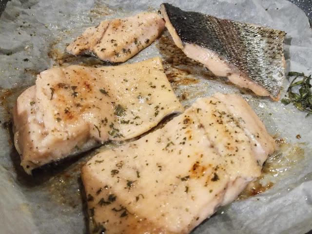 Cottura dei tranci di trota salmonata