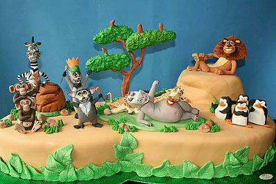Madagascar Children Party Ideas Cakes Birthday Cake Three