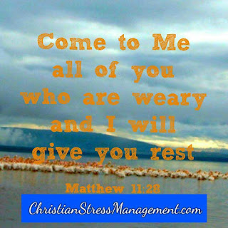 ome to Me all of you who are tired and I will give you rest. (Matthew 11:28)
