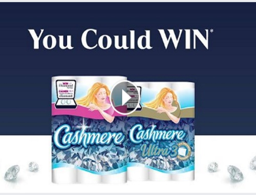 Cashmere Bathroom tissue diamond earrings contest