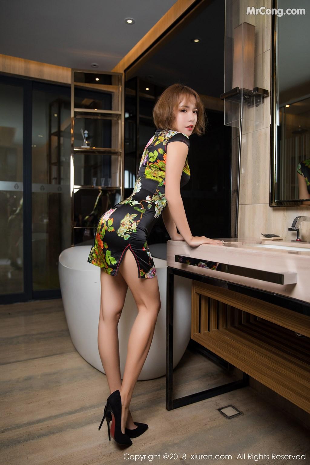 Image XIUREN-No.1264-Ya-Wen-MrCong.com-005 in post XIUREN No.1264: Người mẫu Ya Wen (雅雯) (61 ảnh)