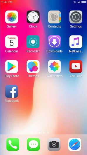 iphone x launcher