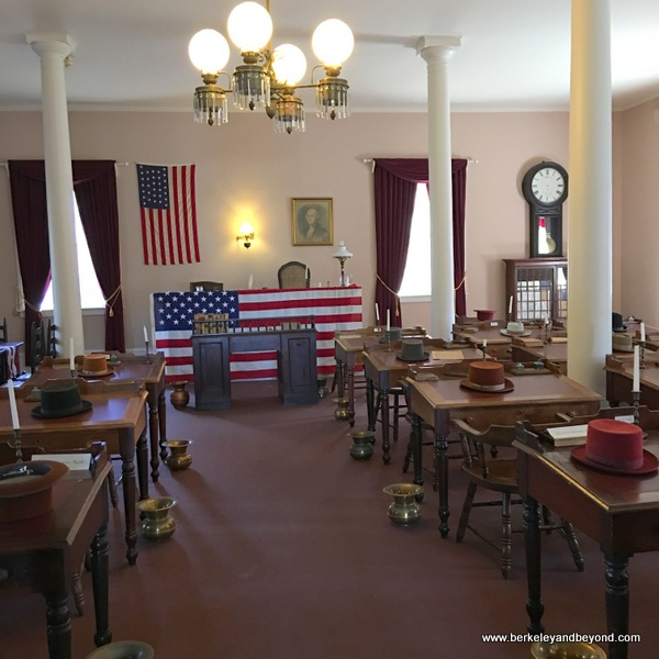 interior of Benicia Capitol State Historic Park in Benicia, California