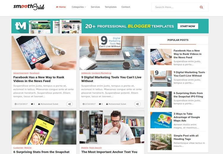 Smooth Grid ZanaLab Blog Version Preimum