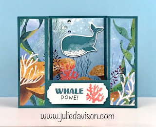 Stampin' Up! Whale Done Bridge Card + Video Tutorial ~ 2020-2021 Annual Catalog ~ www.juliedavison.com