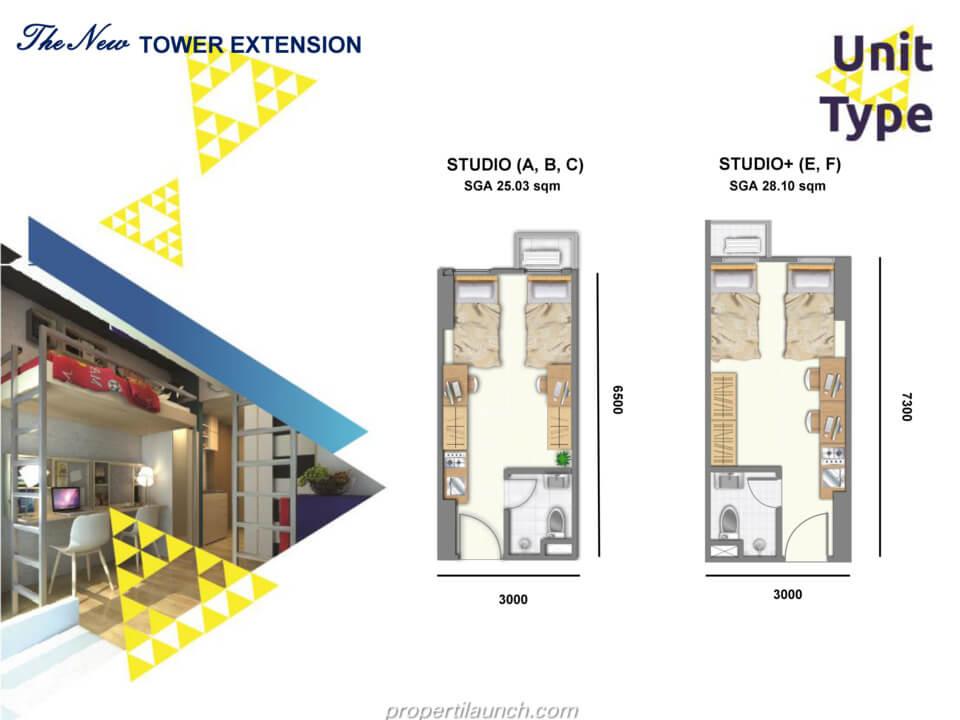 Apartemen Studio Evenciio Margonda