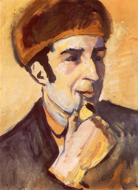 August Macke Franz Marc'ın Portresi