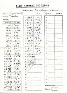 Planilla de la partida de ajedrez González Mestres vs. Joan Bautista