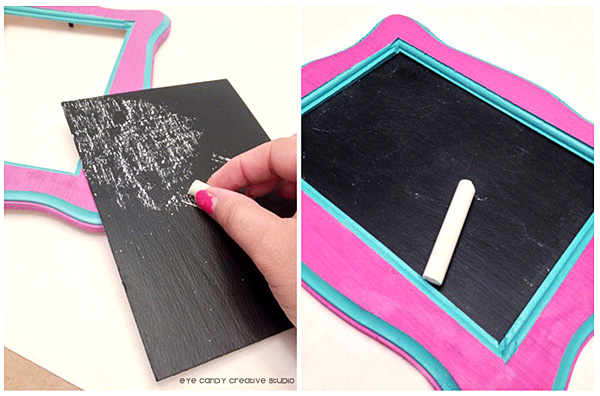 seasoning the chalkboard frame, school locker decor, back to school craft