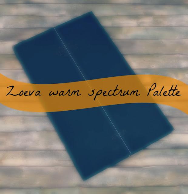 Zoeva warm spectrum Palette