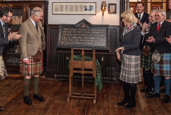 The Fife Arms is located in the village of Braemar, home of the Highland Games. Prince of Wales and The Duchess of Cornwall