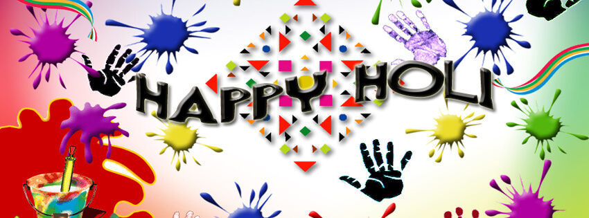 Happy Holi Facebook Status & Cover Images