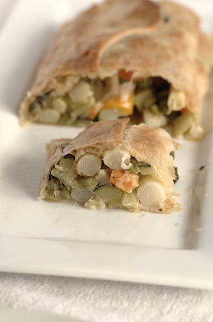 Strudel di pasta sfoglia con verdure