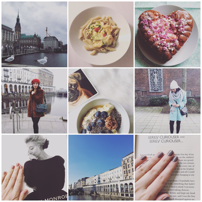 monthly recap | february 2016 | instagram favorites | more details on my blog http://junegold.blogspot.de | life & style diary from hamburg | #monthlyrecap #february #february2016 #winter #hamburg #fashion #food #nails