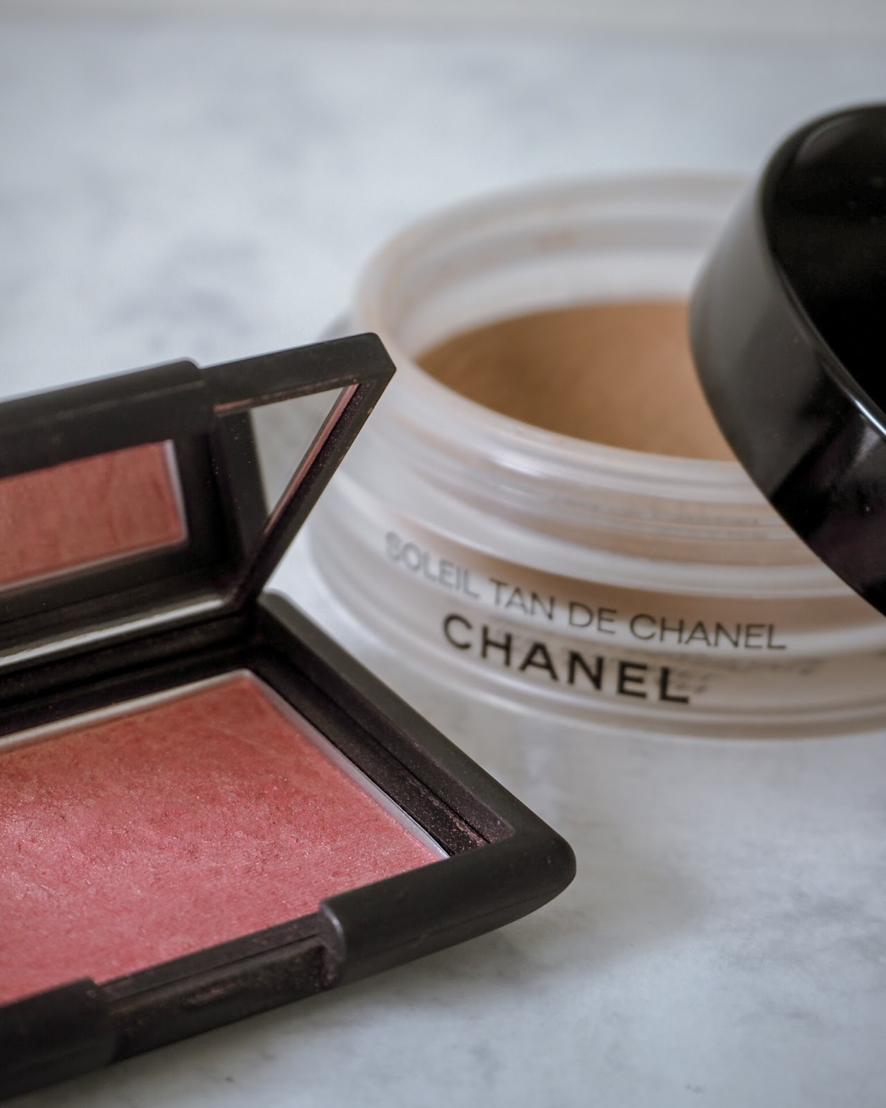 Nars Orgasm Blush and Chanel Universal Bronzer