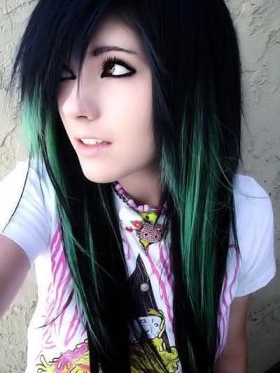emo girl hairstyles popular